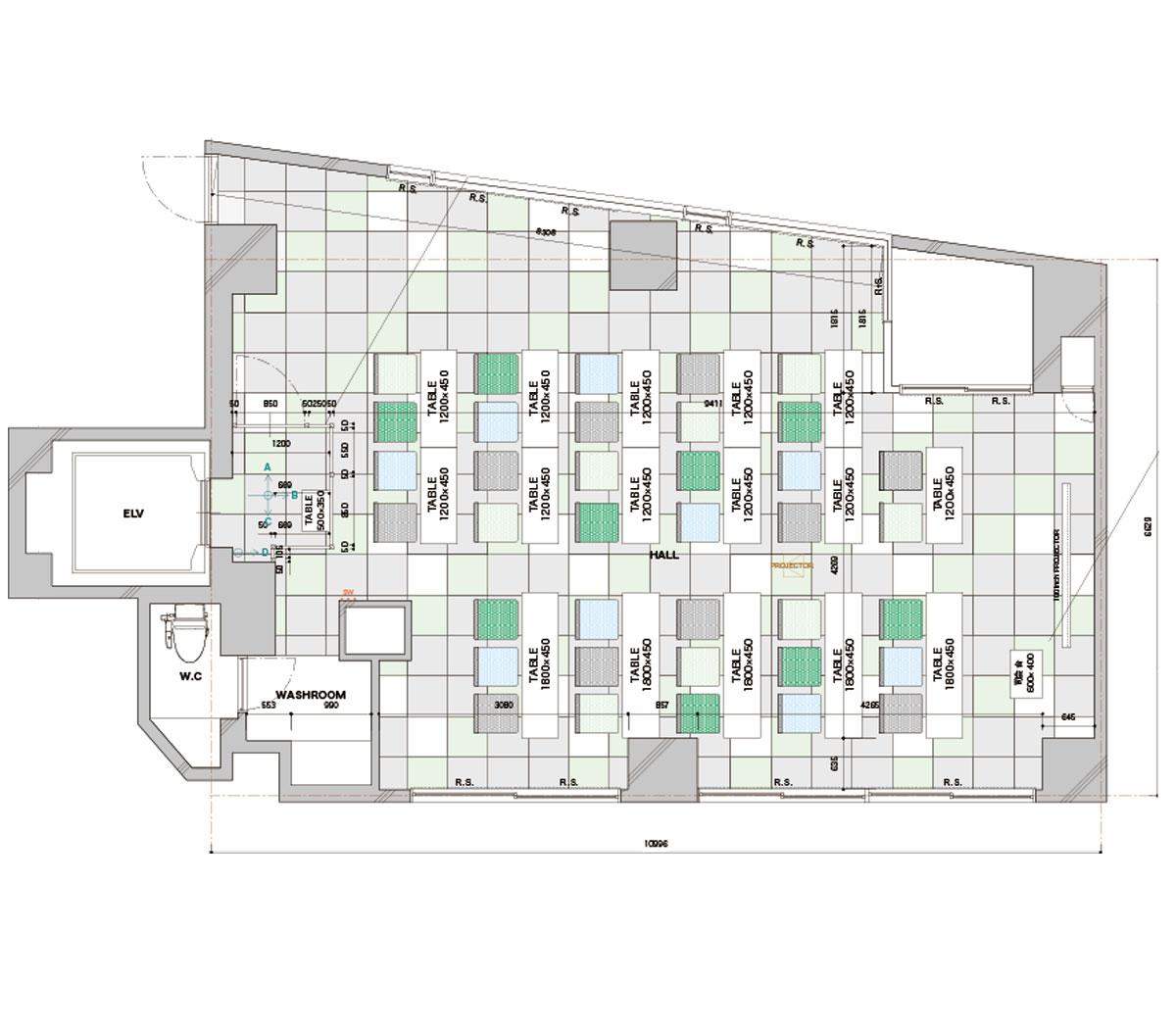 みんなの会議室 代々木6F (ID:10015) 図面|TIME SHARING|タイムシェアリング |スペースマネジメント|あどばる|adval