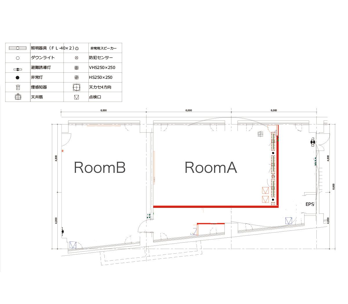 みんなの会議室 品川 Room A (ID:10017) 図面