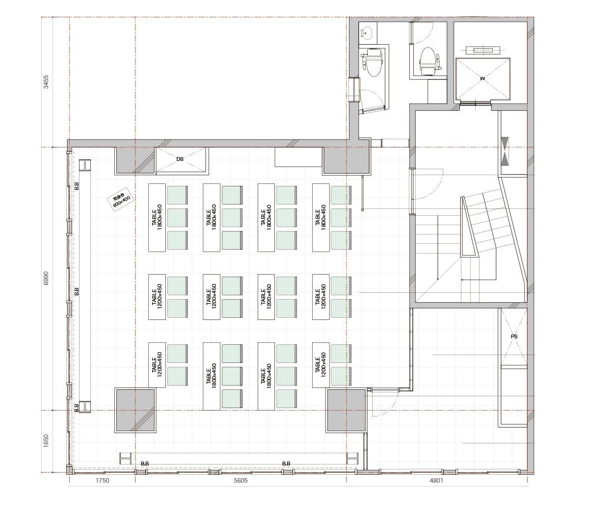 みんなの会議室 東京駅前4階 (ID:10020) 図面