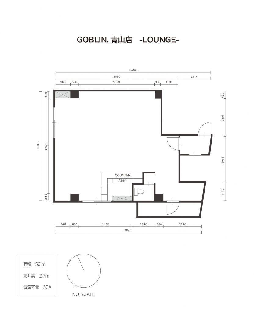 GOBLIN.PARK青山LOUNGE (ID:10063) 図面