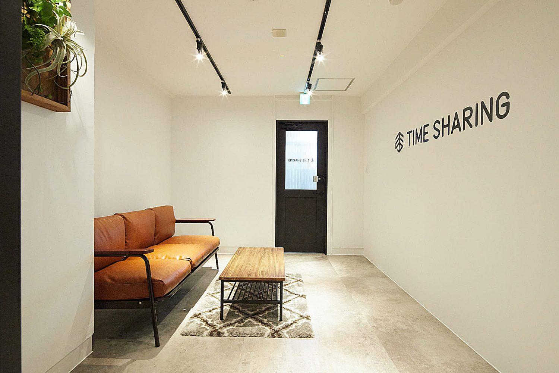 TIME SHARING 渋谷青山通り3F(タイムシェアリング) | 受付スペースに|TIME SHARING|タイムシェアリング |スペースマネジメント|あどばる|adval