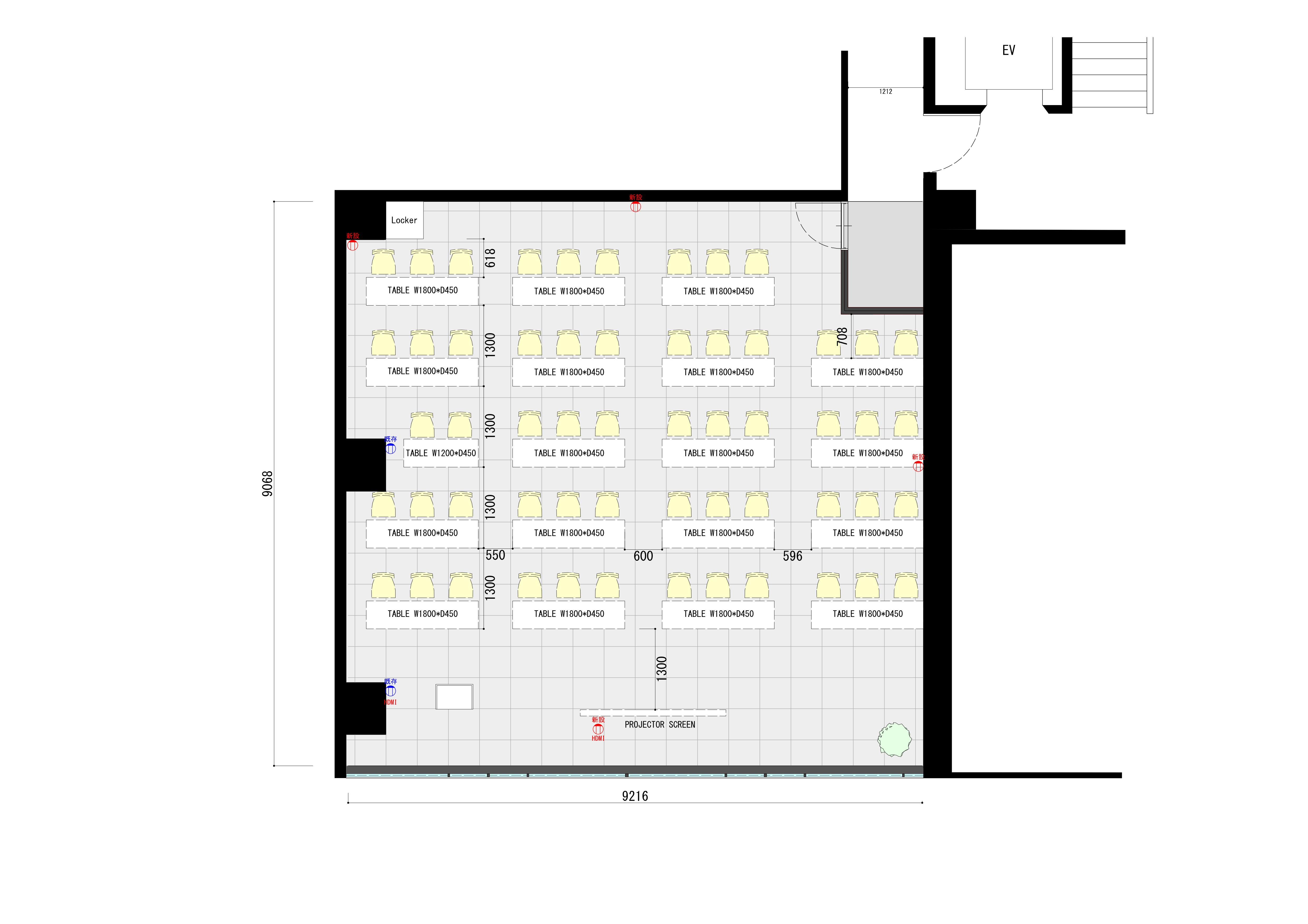 みんなの会議室 渋谷宮益坂3B (ID:) 図面|akibaco|あきばこ|スペースマネジメント|あどばる|adval