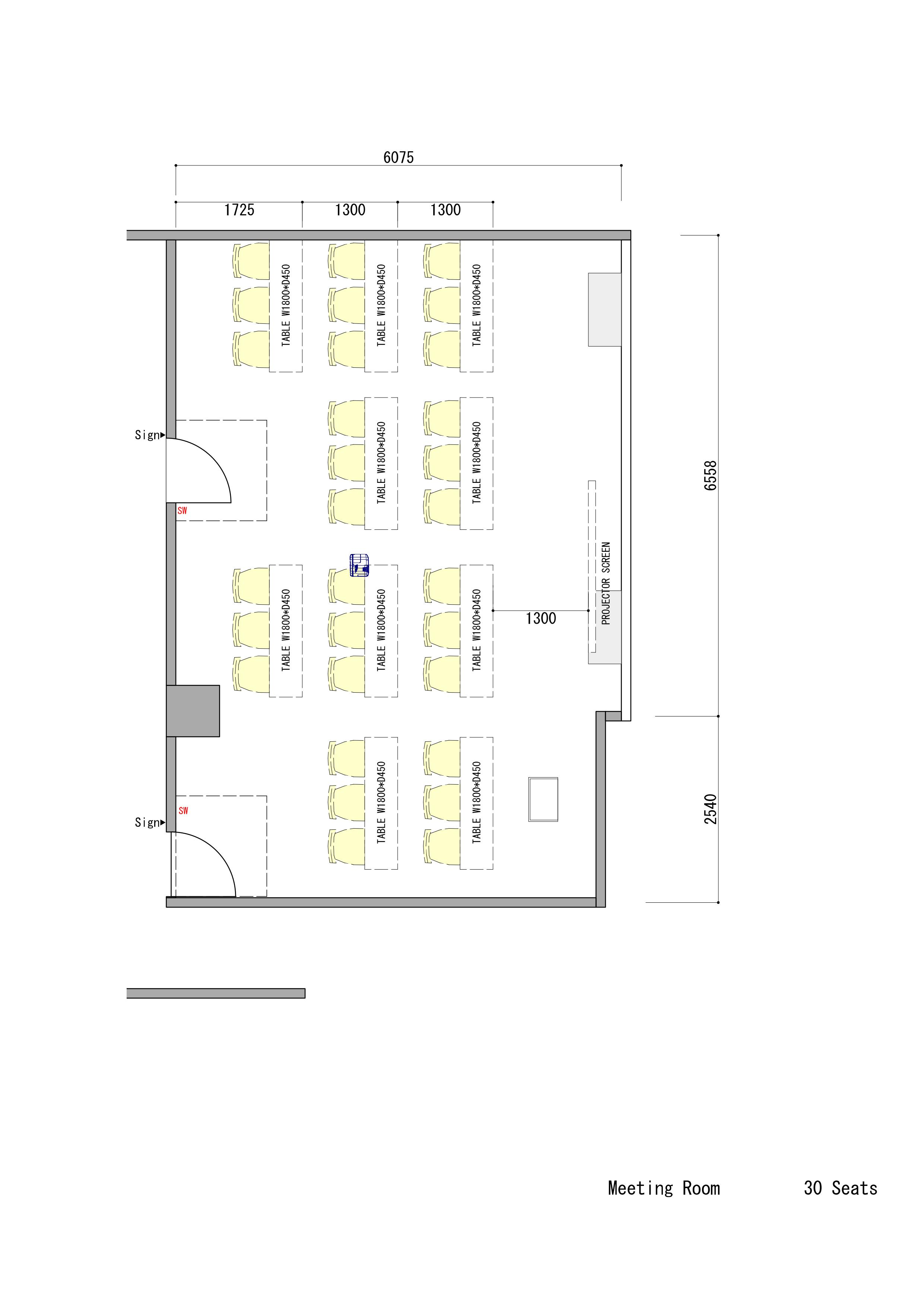 くふうの貸会議室 (ID:) 図面 TIME SHARING タイムシェアリング  スペースマネジメント あどばる adval
