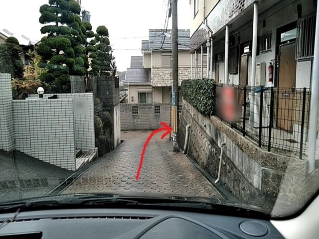 道順4. 突き当りを右折