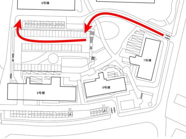 平置き奥側のスペースの区画図