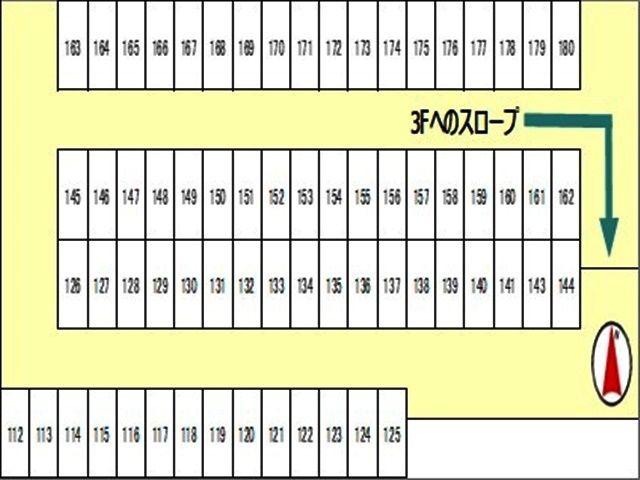 駐車場2階の区画図