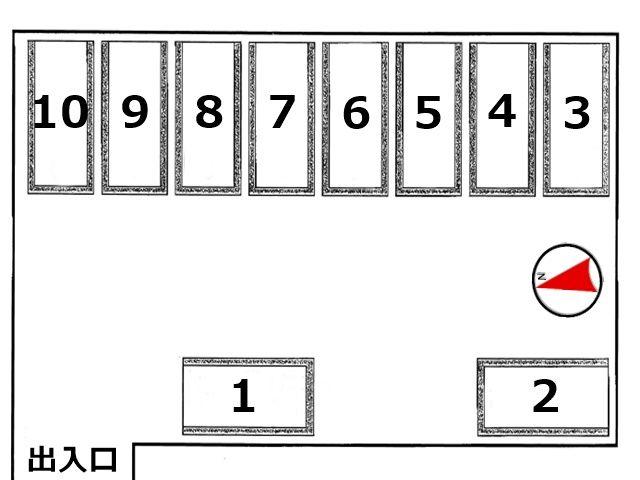 駐車場配置図です。