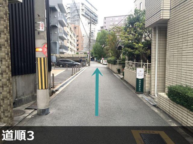 3.新大阪ステーションホテルの横を進んでください。