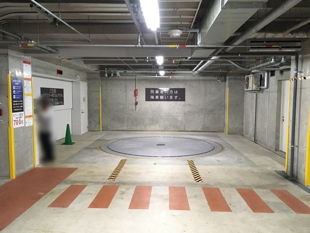 【道順6】ご利用駐車場の写真です。係員に「駐車券」と「akippaの予約完了メール」を提示していただき、予約確認できると「無料認証」していただけます。