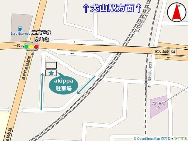 駐車場の道順地図