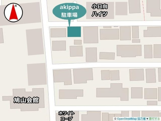 駐車場周辺地図のアップ