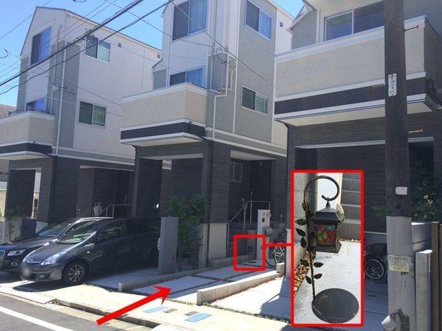 【道順6】こちらのランプを目印にして駐車してください。