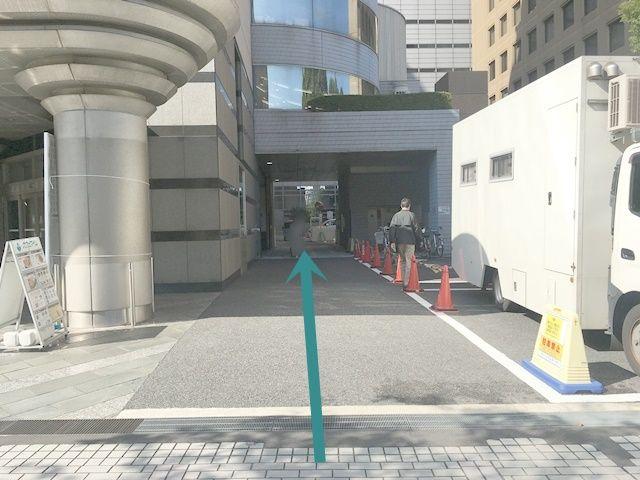 川崎市産業振興会館の右横を入っていきます。