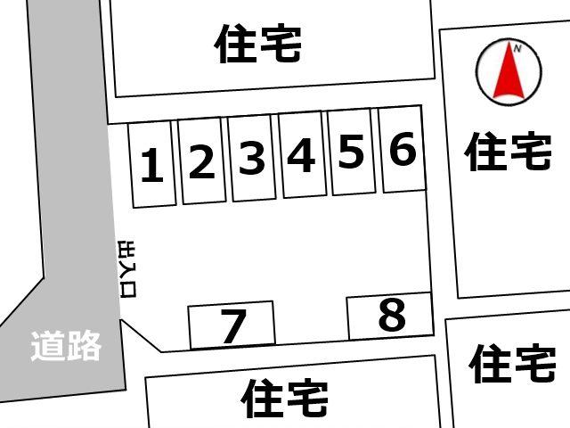 区画図をしっかりと確認し、ご予約したスペースへ駐車してください。