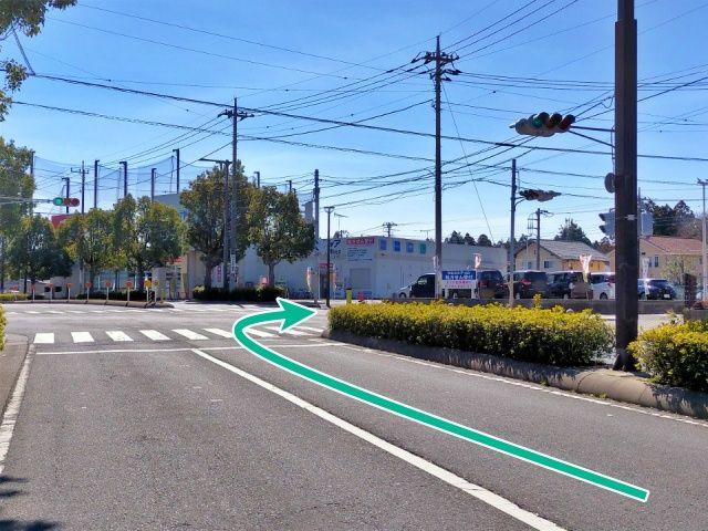 駐車場道順②(信号を右折の場合)