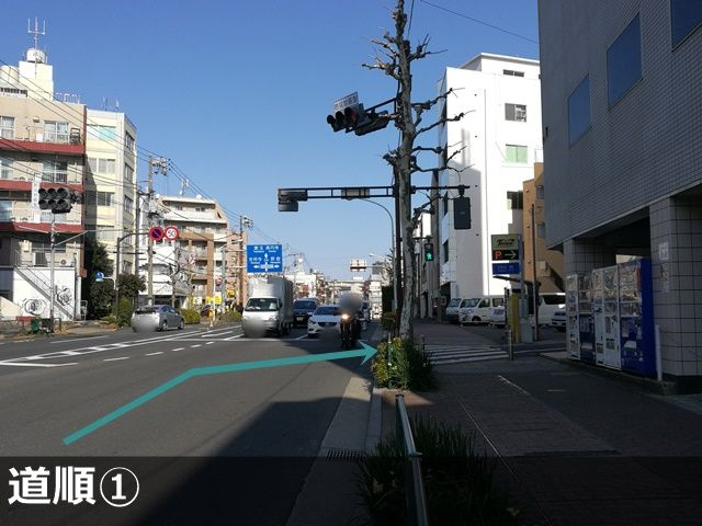 【羽根木】交差点を右折