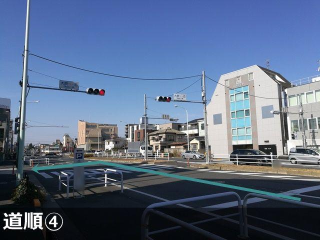 【大原一・西】交差点を左折