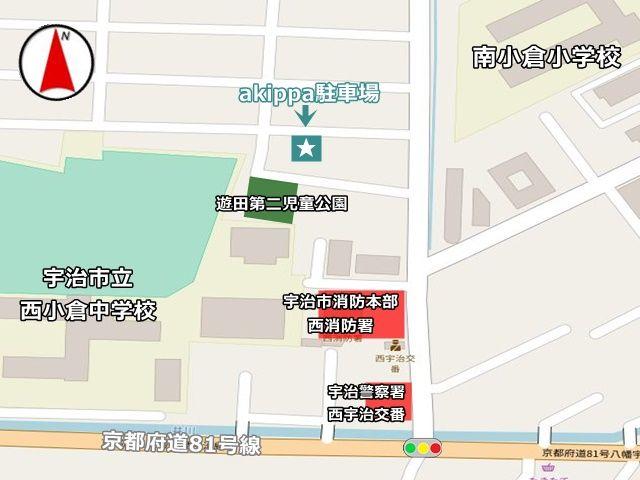 駐車場周辺のマップです