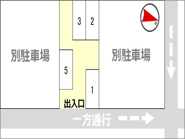 駐車場区画図※駐車位置は予約後にご案内しています※