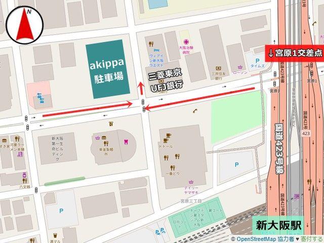 駐車場の周辺地図です。