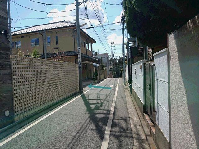【詳細1】住宅間の道を左に曲がって下さい。