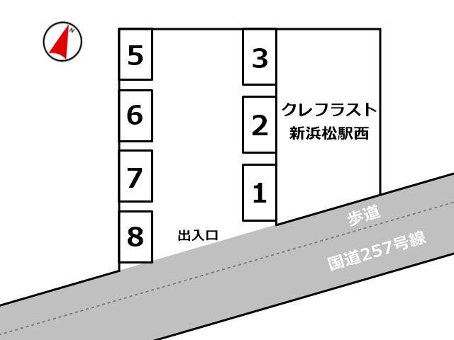 ※必ず、予約完了後に通知されるスペース番号と位置をご確認のうえ駐車してください。