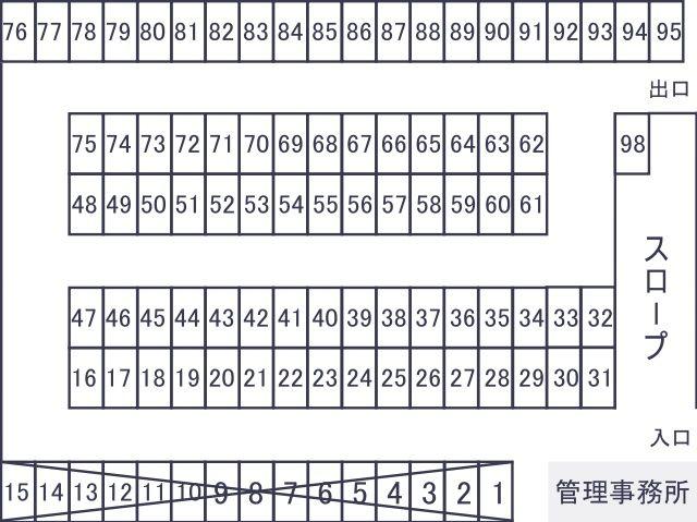 1F駐車場区画図