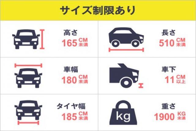 かならずご自身のお車が駐車可能かご確認ください。