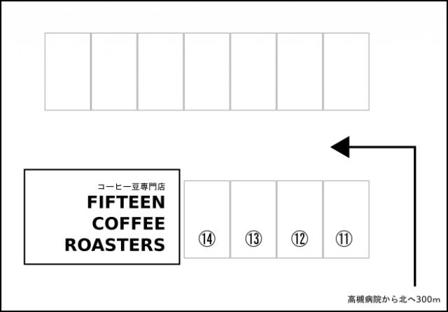 駐車場内の詳細図です。駐車位置番号をよくご確認ください。