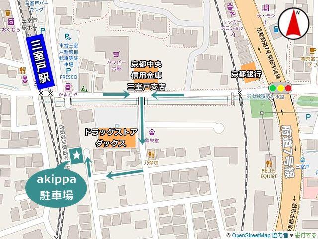 駐車場の周辺地図