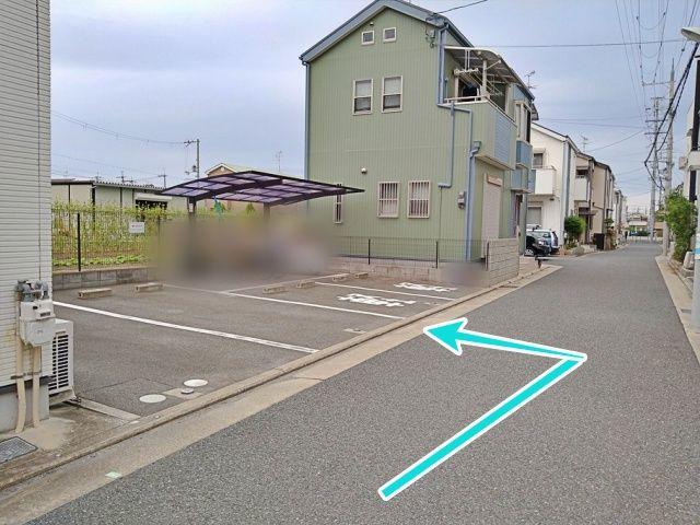 右手が第2駐車場です(4台駐車可能です)