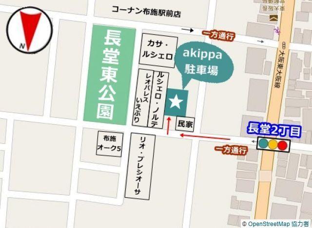 周辺地図となります、一方通行が多いのでお気をつけくださいませ