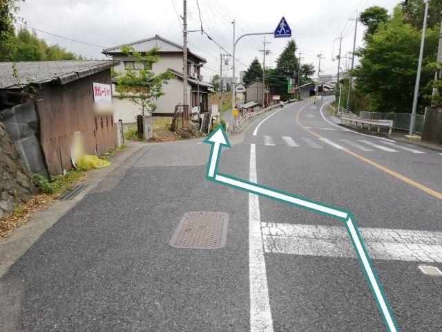 国道24号線和歌山方面(橋本駅)から左へ進入