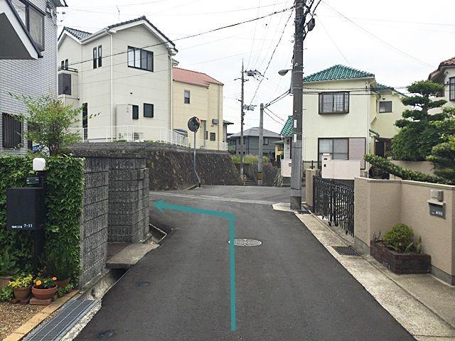 【道順6】2つ目の角を「左折」してください。