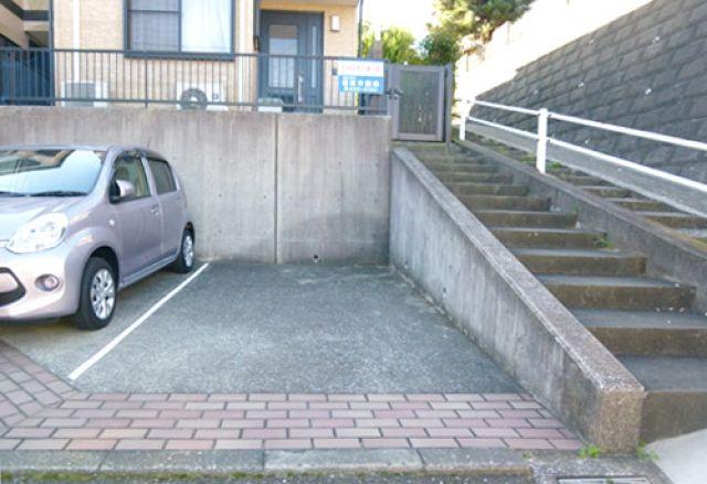 【道順5】こちらがakippa駐車場です。
