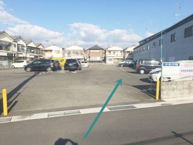 【道順3】区画図を参考に、ご予約されたスペースに駐車してください。