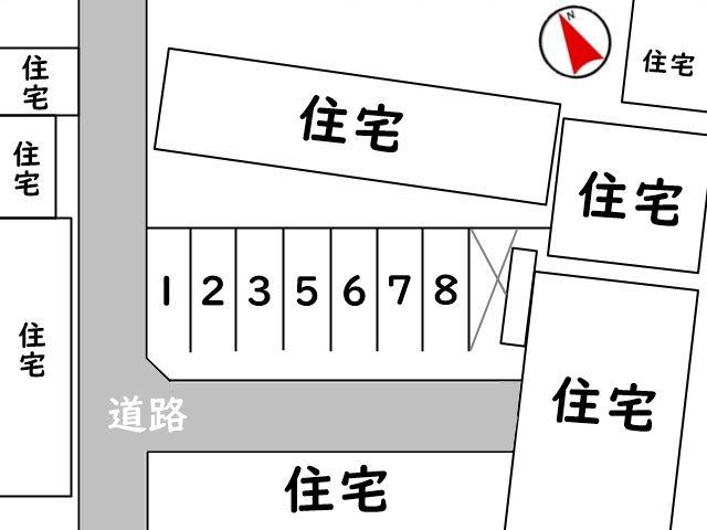 区画図をしっかりとご確認の上、ご予約されたスペースに駐車してください。