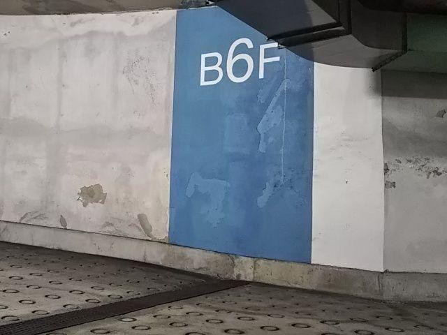 B6がakippa駐車場のあるフロアとなります。