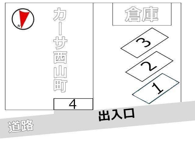 駐車場全体の図面です、予約スペース番号の位置をご確認ください