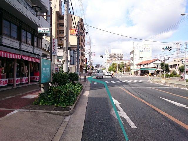 【道順1】国道479号線(内環状線)淀川方面から「だいどう豊里駅」方面へ直進していただき、1つ目の信号を「左折」してください。