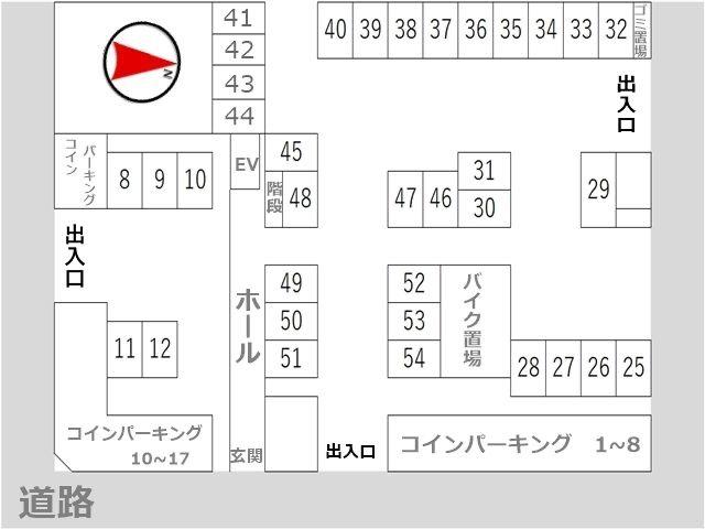 駐車場区画図(全体)