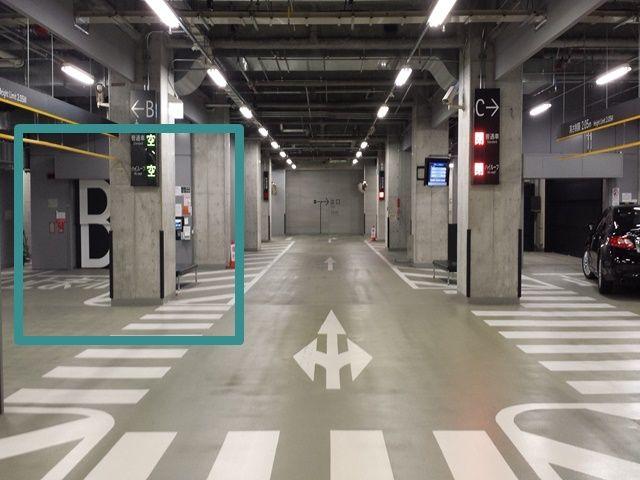 【道順6】右折後、機械式A号前を再度右折し直進して下さい