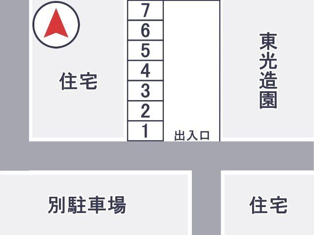 1~7番駐車場区画図
