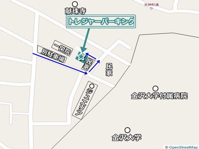 駐車場までの経路や周辺の建物状況です。道が狭いため十分注意してお越しください。