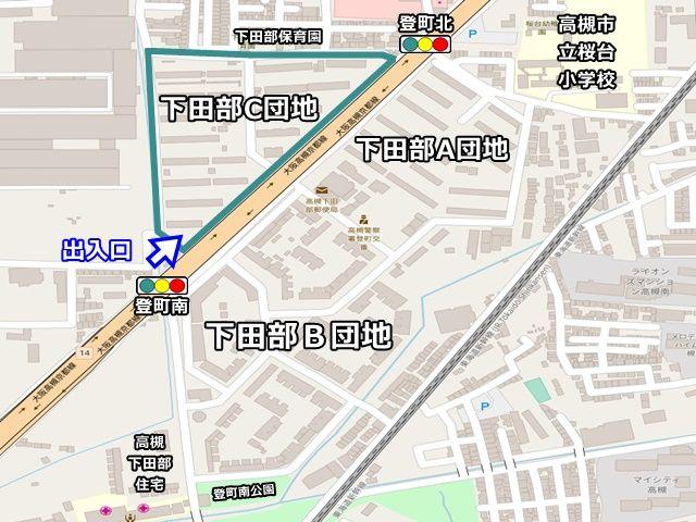 【周辺地図】ご利用いただく駐車場は「下田部C団地」の駐車場です