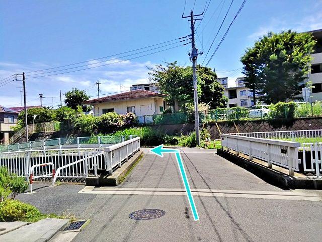 御前田上橋を直進し、すぐ左折します