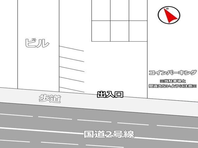 駐車場全体の図面です。予約したスペース以外は別契約者様がご利用されますので、必ず予約したスペースの位置をご確認ください。