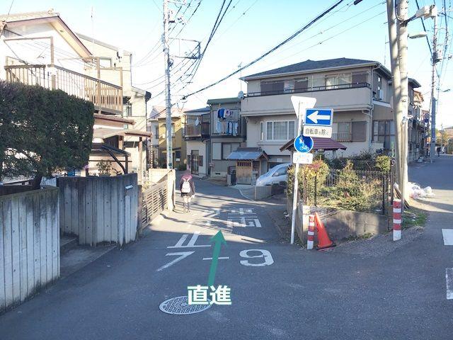 【道順2】そのまま直進してください。(※平日のみ【午前7時~午前9時】までは車両通行止めとなっておりますので、ご注意ください。)