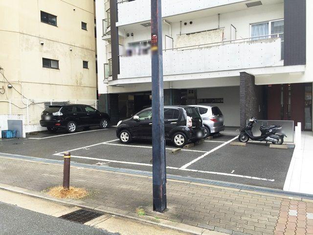 5.ご利用駐車場になります。予約したスペースに駐車してください。