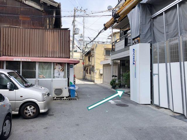 安井邸九条京セラ近くの駐車場